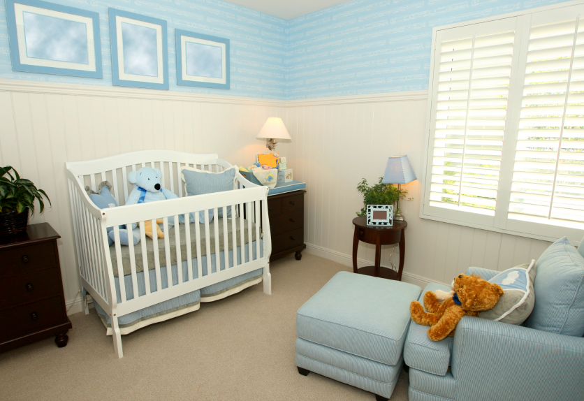 carpeted nursery